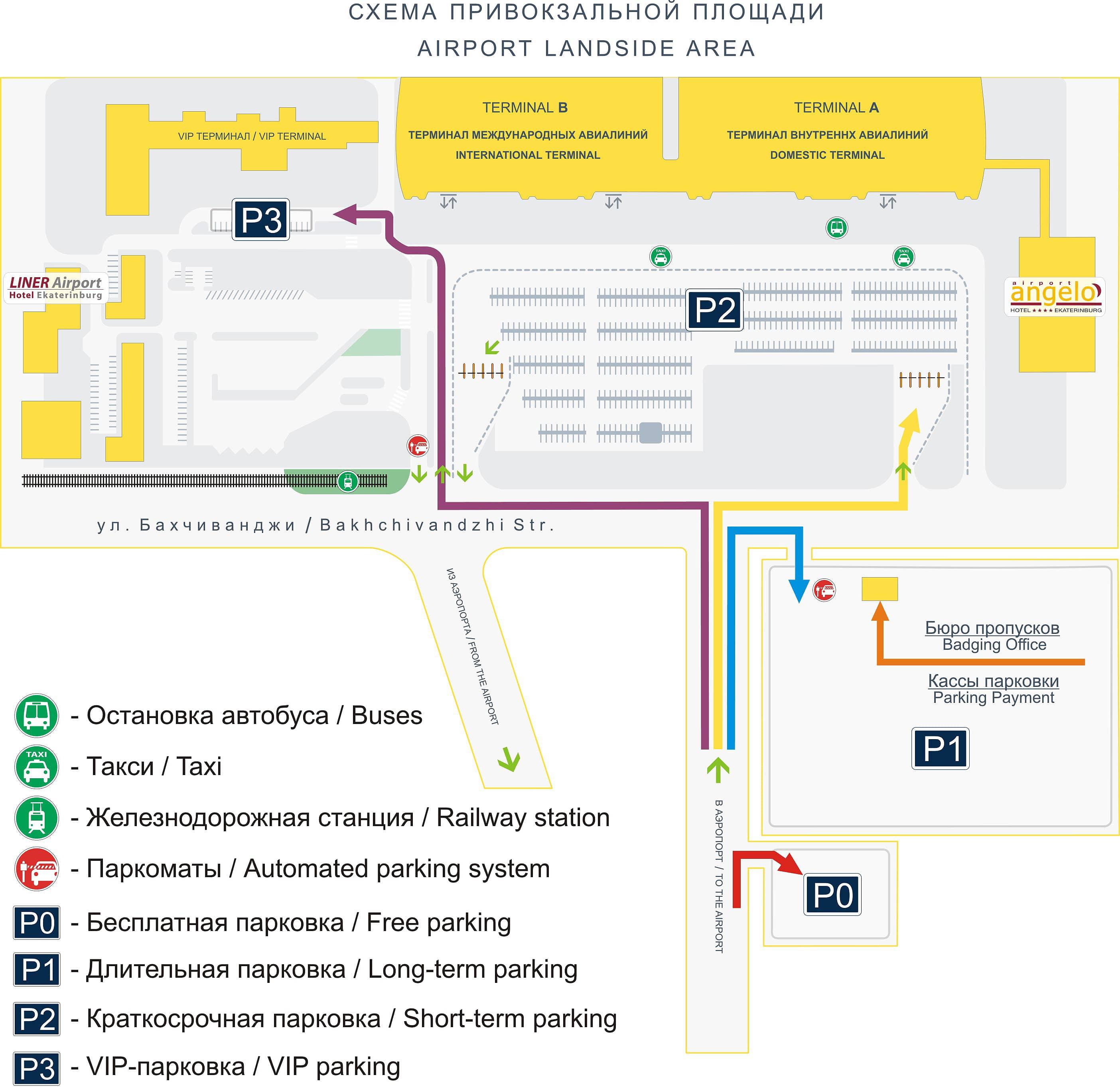 Схема движения в аэропорту большое савино